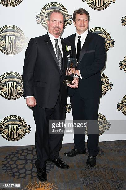 Bill Roe and actor Nathan Fillion attend the American Society Of Cinematographers 29th Annual Outstanding Achievement Awards at the Hyatt Regency...
