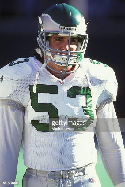 Bill Romanowski of the Philadelphia Eagles during a NFL football game against the Dallas Cowboys on December 10 1995 at Veterans Stadium in...