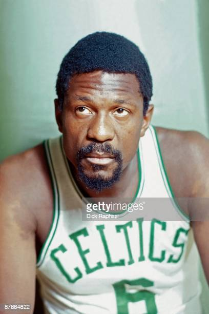 Bill Russell of the Boston Celtics poses for a portrait in 1968 at the Boston Garden in Boston Massachusetts NOTE TO USER User expressly acknowledges...
