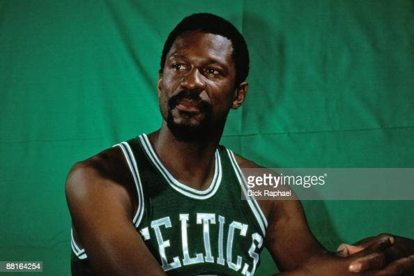 Bill Russell of the Boston Celtics poses for a portrait in 1969 at the Boston Garden in Boston Massachusetts NOTE TO USER User expressly acknowledges...