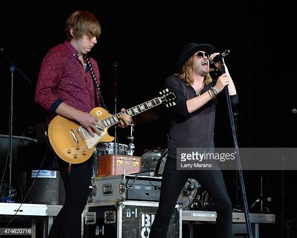 Bill Satcher and Michael Hobby of A Thousand Horses perform at The Coral Sky Ampitheatre on May 23 2015 in West Palm Beach Florida