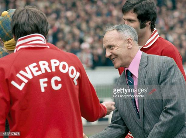 Bill Shankly Liverpool manager prior to the FA Cup Final against Newcastle United at Wembley Stadium in London on 4th May 1974 Liverpool beat...