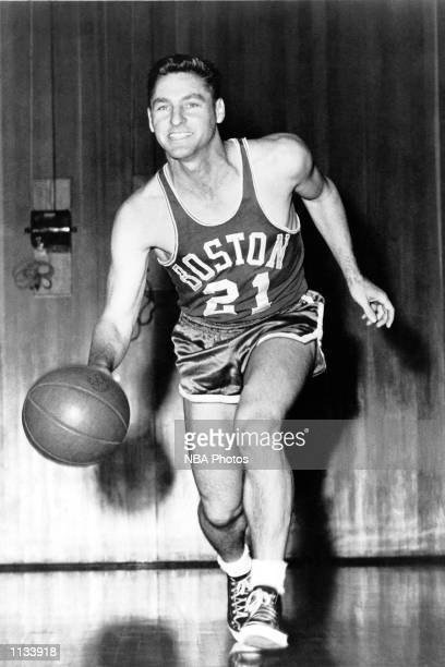 Bill Sharman of the Boston Celtics poses for portrait at Boston Massachusetts NOTE TO USER User expressly acknowledges and agrees that by downloading...