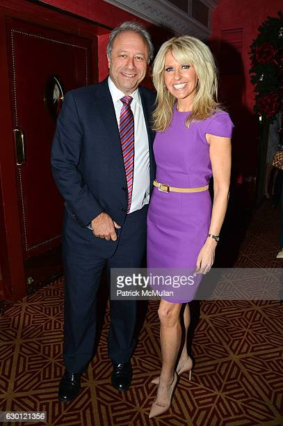 Bill Siegel and Monica Crowley attend George Farias Anne and Jay McInerney Host A Christmas Cheer Holiday Party 2016 at The Doubles Club on December...