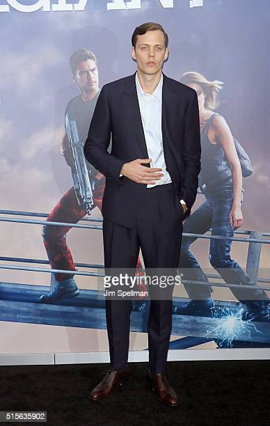 Bill Skarsgard attends the 'Allegiant' New York premiere at AMC Loews Lincoln Square 13 theater on March 14 2016 in New York City