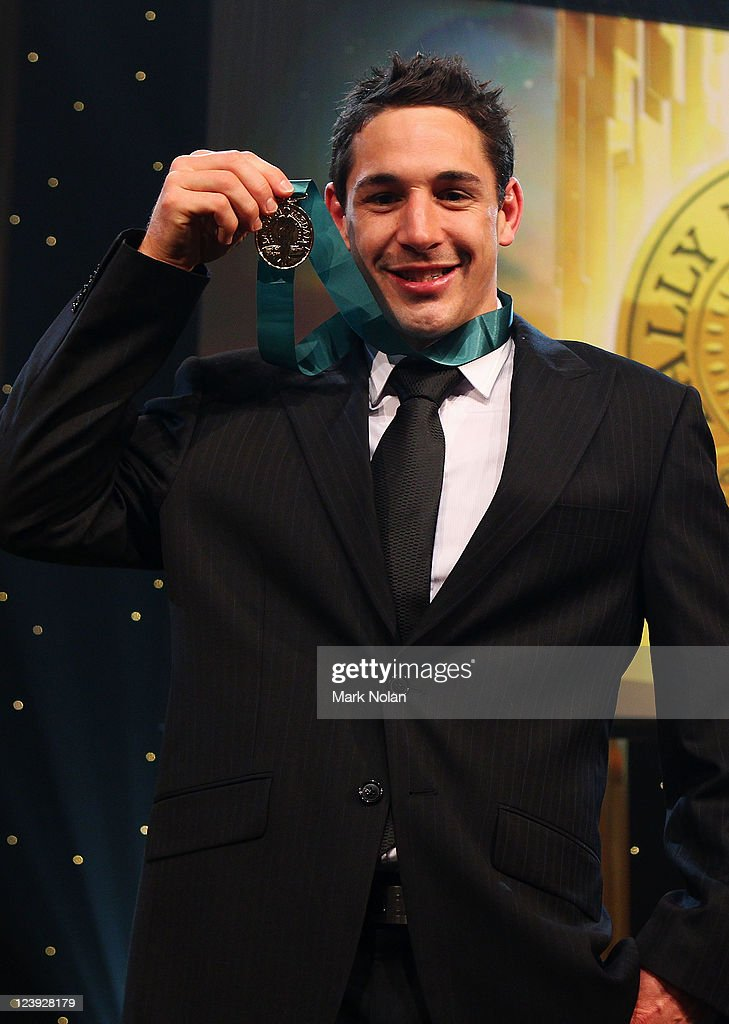 Bill Slater poses with the Dally M Medal during the 2011 Dally M Awards at the Royal Hall of Industries, Moore Park on September 6, 2011 in Sydney, Australia.