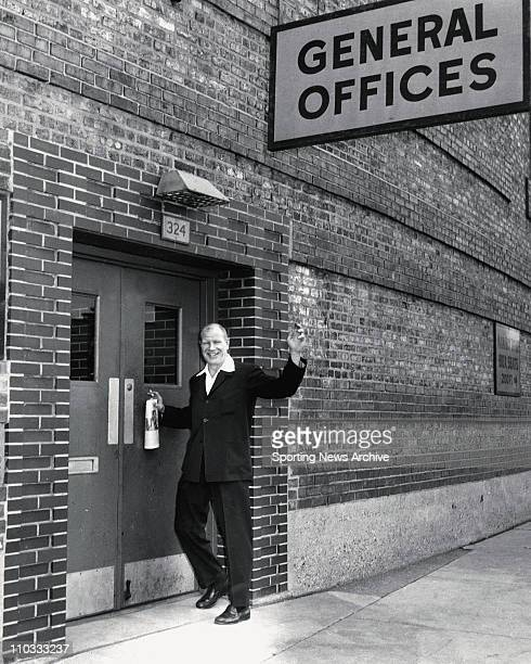Bill Veeck Owner Chicago White Sox at Comiskey Park office March 1959
