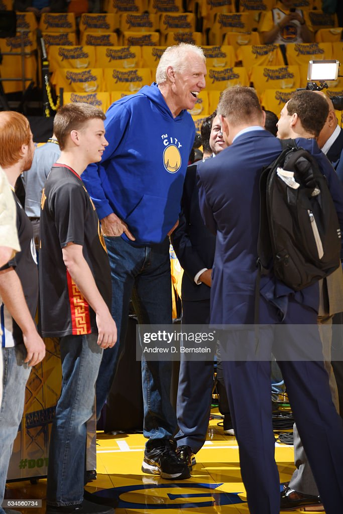 Bill Walton attends Game Five of the Western Conference Finals between the Golden State Warriors and the Oklahoma City Thunder during the 2016 NBA Playoffs on May 26, 2016 at ORACLE Arena in Oakland, California.