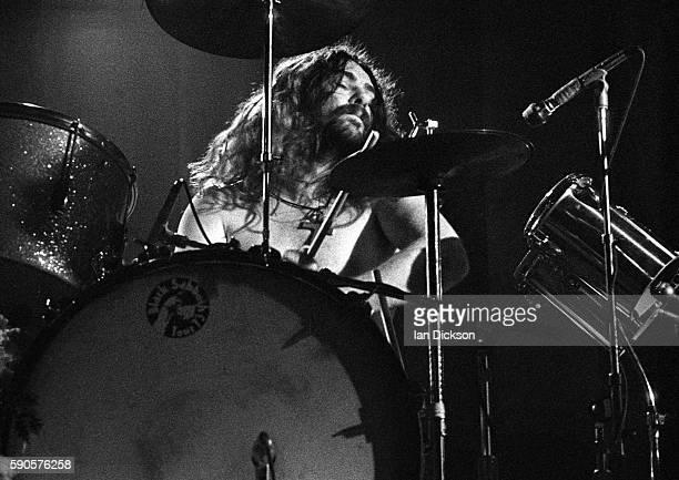 Bill Ward of Black Sabbath performing on stage at Rainbow Theatre London 16 March 1973