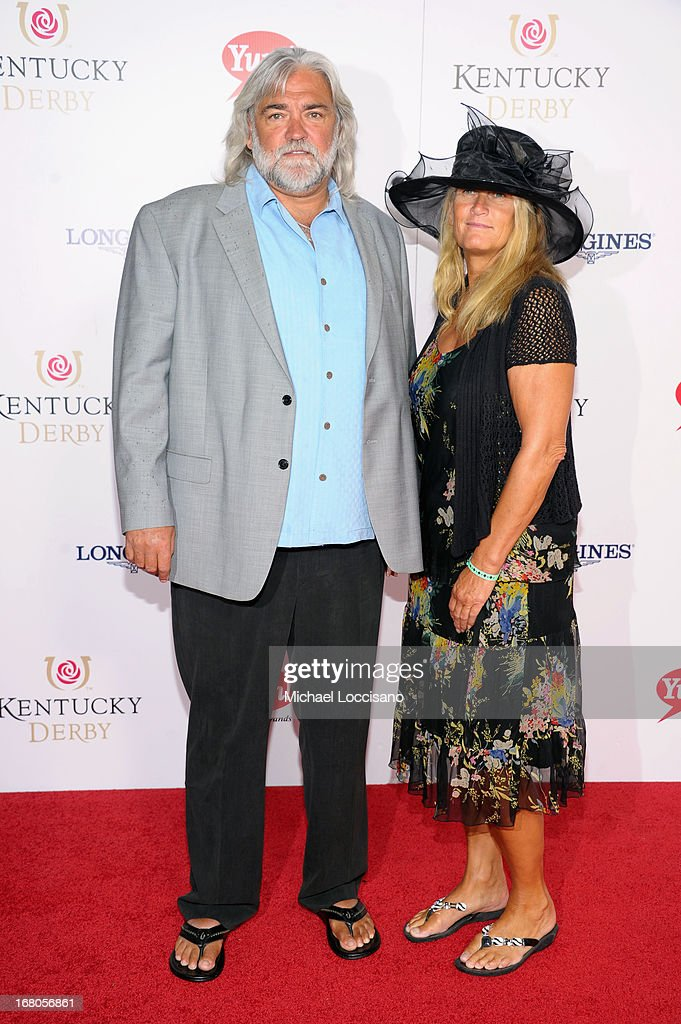 Bill 'Wild Bill' Wichrowski (L) attends the 139th Kentucky Derby at Churchill Downs on May 4, 2013 in Louisville, Kentucky.