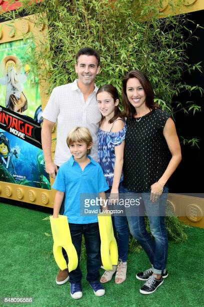 Bill Willson Jake Wilson Sydney Wilson and Janet Evans at the premiere of Warner Bros Pictures' 'The LEGO Ninjago Movie' at Regency Village Theatre...