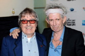 Bill Wyman and Keith Richards of The Rolling Stones attends the premiere of 'Crossfire Hurricane' during the 56th BFI London Film Festival at The...