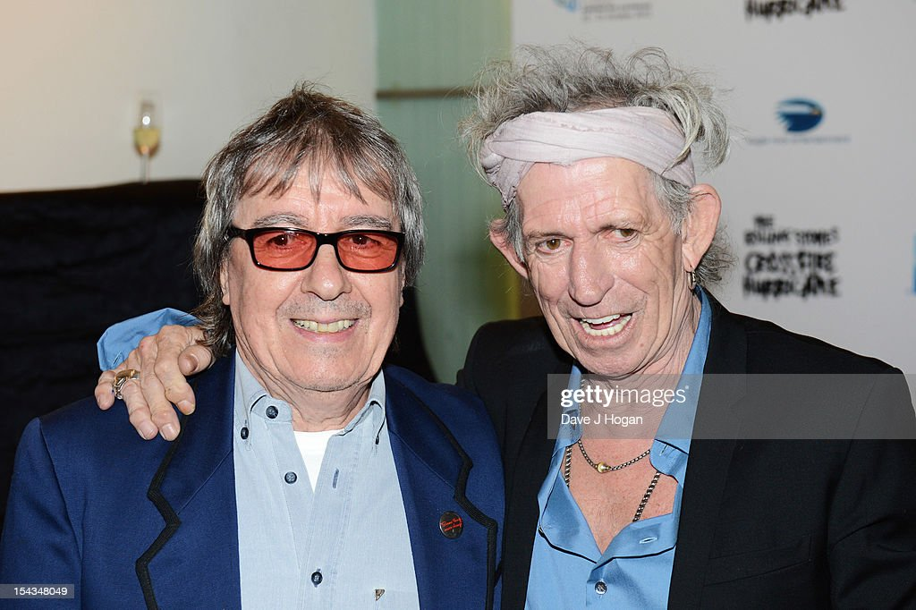Bill Wyman and Keith Richards of The Rolling Stones attends the premiere of 'Crossfire Hurricane' during the 56th BFI London Film Festival at The Odeon Leicester Square on October 18, 2012 in London, England.