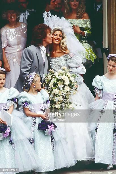Bill Wyman and Mandy Smith Wedding in London on June 51989 in London United Kingdom