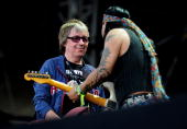 Bill Wyman and Micki Free perform during day 2 of the Hard Rock Calling festival held in Hyde Park on June 26 2010 in London England