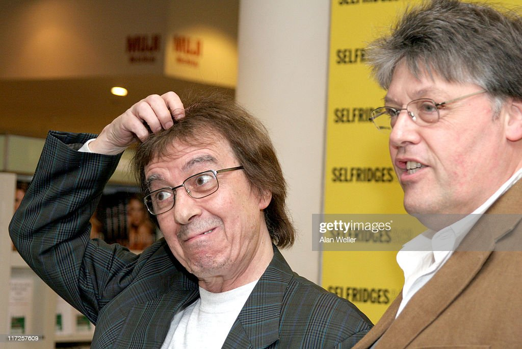 Bill Wyman and Richard Havers during Bill Wyman and Richard Havers Signs Copies of The Stones: A History In Cartoons at Selfridges – April 27, 2006 at Selfridges in London, Great Britain.