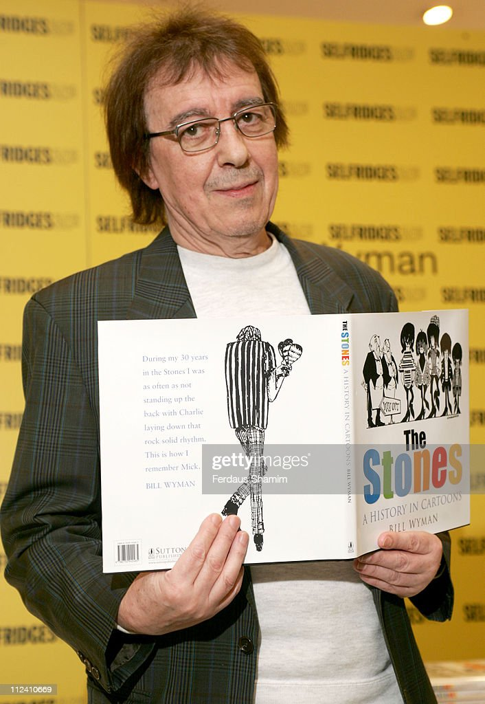 """Bill Wyman and Richard Havers sign copies of """"The Stones: A History In Cartoons"""" at Selfridges û April 27, 2006"""