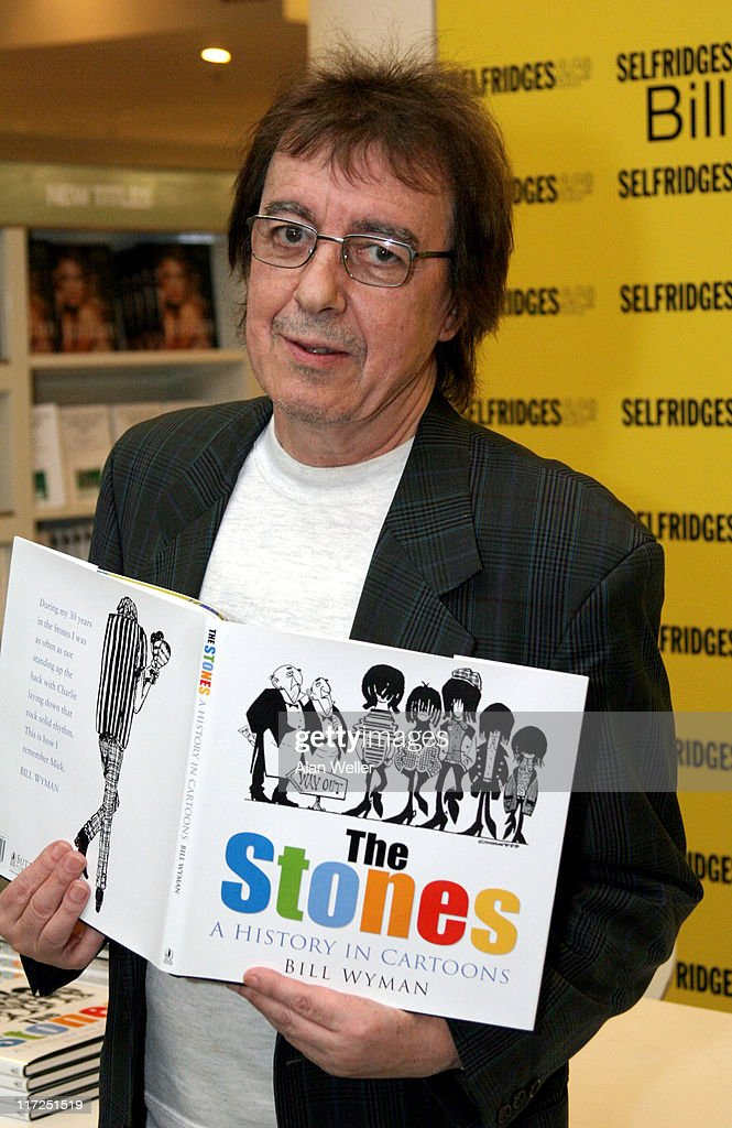 Bill Wyman during Bill Wyman and Richard Havers Signs Copies of The Stones: A History In Cartoons at Selfridges – April 27, 2006 at Selfridges in London, Great Britain.