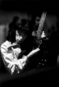 Bill Wyman of the Rolling Stones backstage at Wembley Empire Pool London September 1973