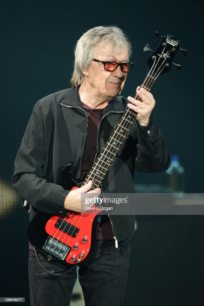 Bill Wyman of the Rolling Stones performs at 02 Arena on November 25, 2012 in London, England.
