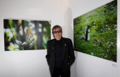 Bill Wyman poses at his exhibition 'Second Nature' Photography by Bill Wyman at Kenny Schachter ROVE on October 13 2011 in London England