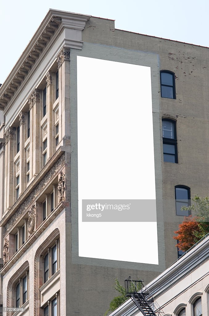 Billboard advertisement space in Manhattan New York