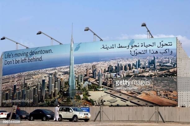 Billboard Advertising Construction of Burj Dubai Building