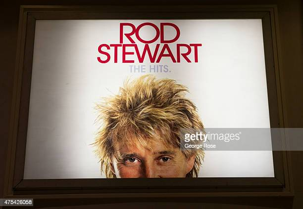 A billboard at Caesars Palace features an ad for Rod Stewart's residency show at The Colosseum at Caesars Palace on May 19 2015 in Las Vegas Nevada...