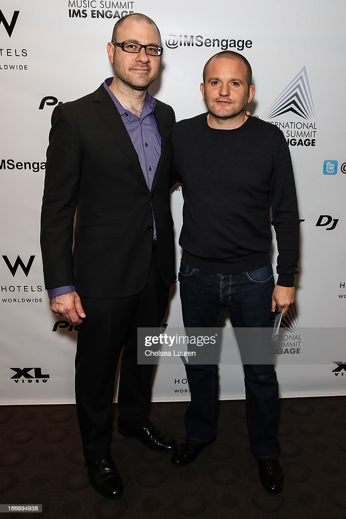 Billboard editorial director Bill Werde (L) and IMS partner Ben Turner attend IMS Engage in partnership with W Hotels Worldwide at W Hollywood on April 17, 2013 in Hollywood, California.