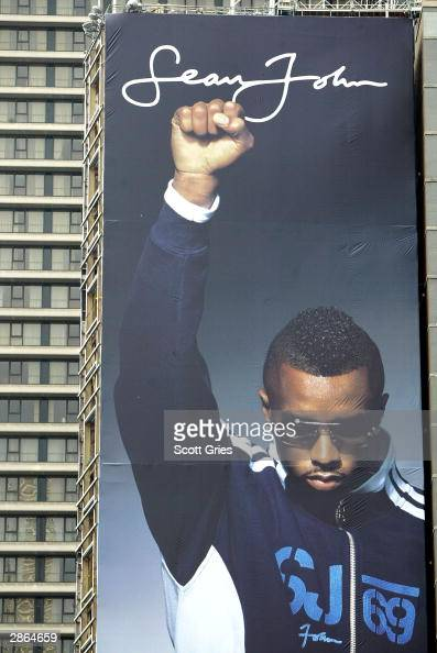 sean john billboard in times square photos and images getty images