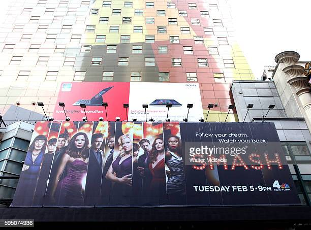 Billboard for Smash the American musical drama series revolving around the creation of a new Broadway musical The series is broadcast in the United...