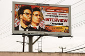 A billboard for the film 'The Interview' is displayed December 19 2014 in Venice California Sony has canceled the release of the film after a hacking...