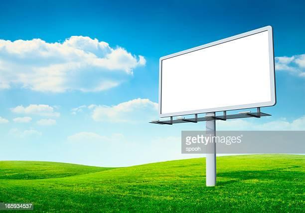 Billboard in field