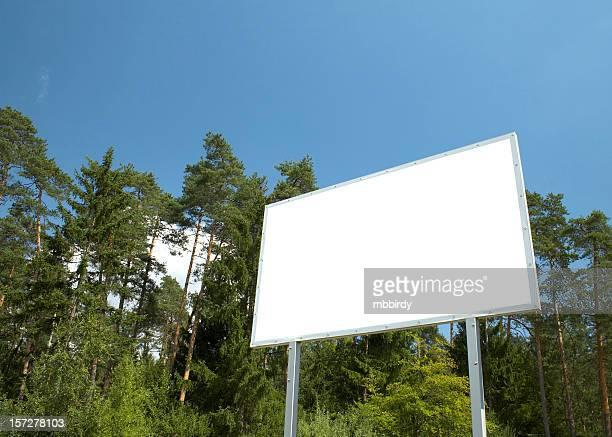 Billboard in scenic scene