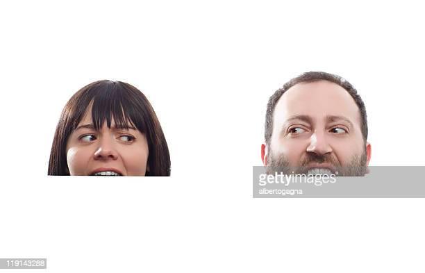 Billboard man and woman