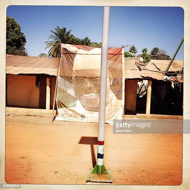 Billboard of Gambia's President Yayah Jammeh in a Gambian village