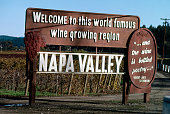 Billboard of Napa Valley an American viticultural srea located in Napa County California United States Napa Valley is considered one of the premier...