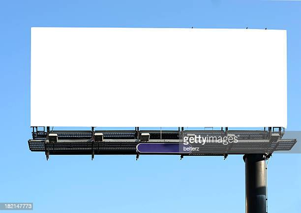 billboard on blue