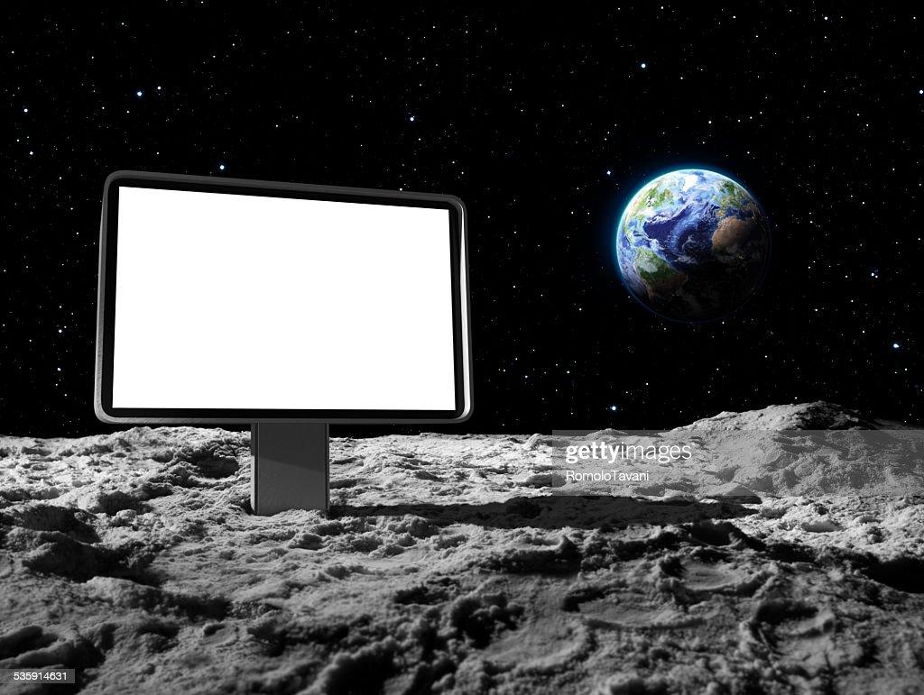 Outdoor na superfície da Lua : Foto de stock