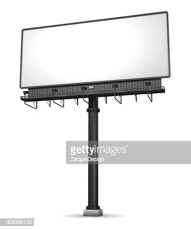 Billboard On White