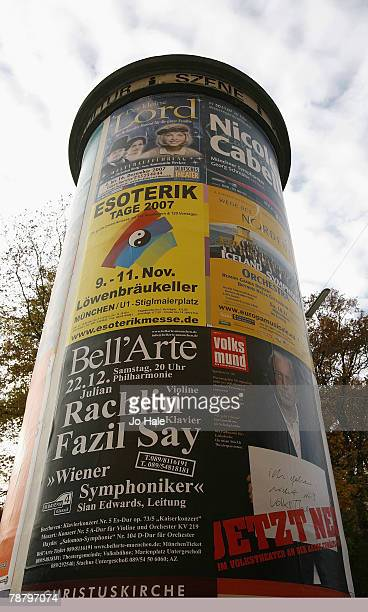 Billboard PostHochstrMunich November 02 2007 in Germany