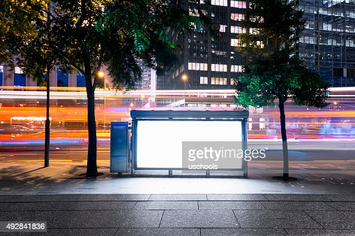 Billboard with Modern City Building Background