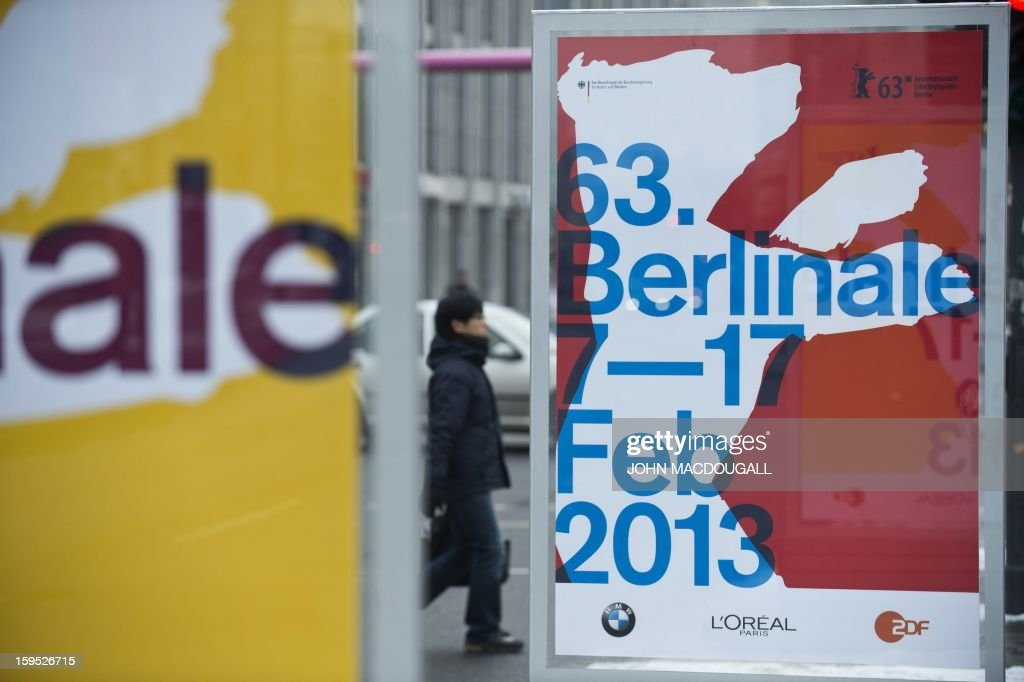 Billboards advertise the 2013 Berlinale film festival at the Potsdamer Platz in Berlin, on January 15, 2013. New releases starring Jude Law and Catherine Deneuve and the world premiere of a picture by embattled Iranian director Jafar Panahi joined the line-up of the 63rd Berlin film festival. Keeping with a tradition of bringing high-wattage stars together with champions of hard-hitting political cinema, organisers of the 'Berlinale' unveiled nine new entries to the February 7 to 17 event.