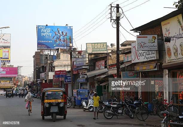 Billboards advertise the tournament in the city prior to the match between Netherlands and India on day four of The Hero Hockey League World Final at...