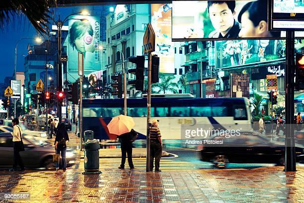 Billboards on Jalan Bukit Bintang shopping road in Kuala Lumpur Malaysia