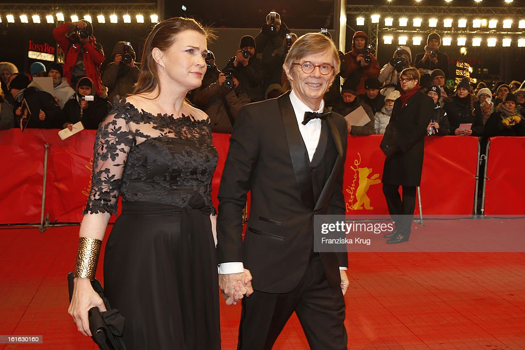 Bille August and guest attend the 'Night Train To Lisbon' Premiere - BMW at the 63rd Berlinale International Film Festival at Berlinale Palast on February 13, 2013 in Berlin, Germany.