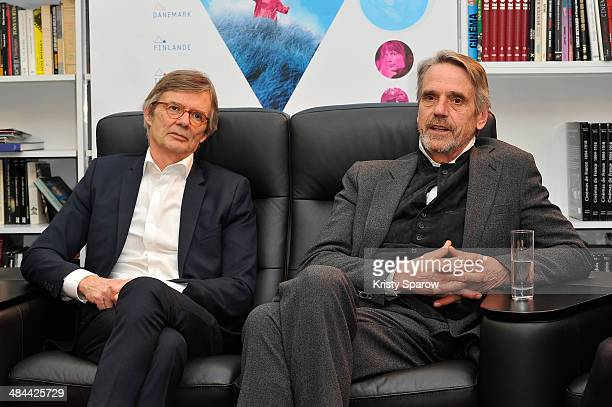 Bille August and Jeremy Irons attend the Beauvais Film Festival 2014 Opening Ceremony on April 12 2014 in Beauvais France