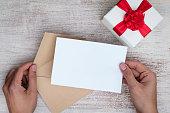 Billet-doux, sending a love letter in an envelope