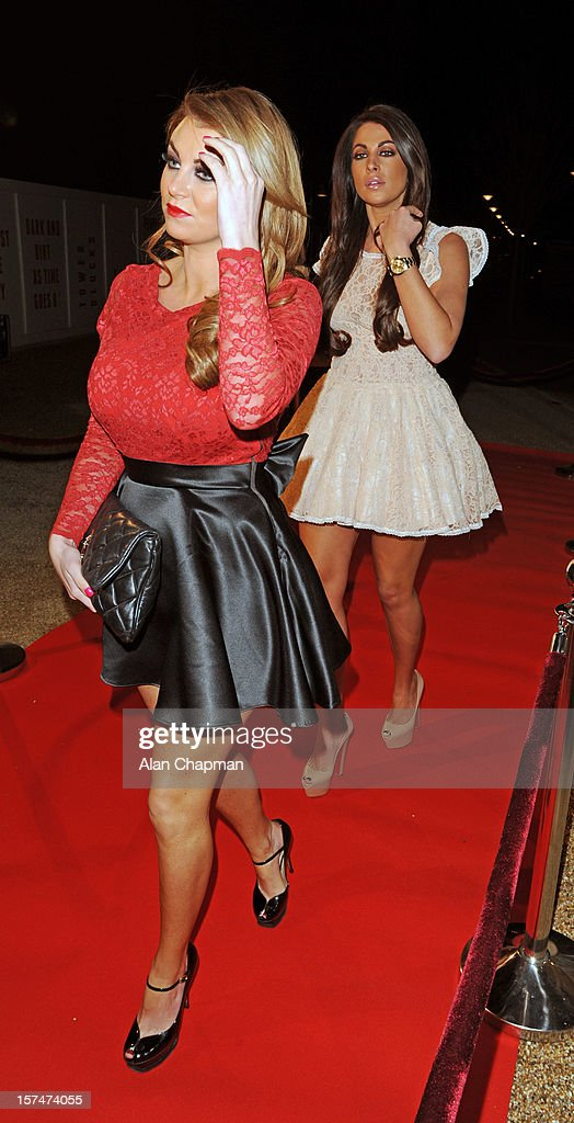 Billi Mucklow and Cara Kilbey sighting at TOWIE live on December 3, 2012 in London, England.