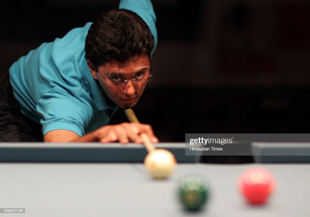 Billiard player Dhruv Sitwala at Islam Gymkhana.